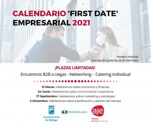 ¡No te pierdas nuestro calendario de 'First Date' Empresarial 2021!
